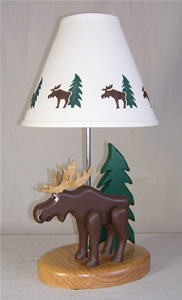 MOOSE TABLE LAMP Why Not Let Mr. Moose Share Your Space? With A Cute Tree  Tucked Behind, And A Matching Shade, This Medium Sized Lamp Will Fit